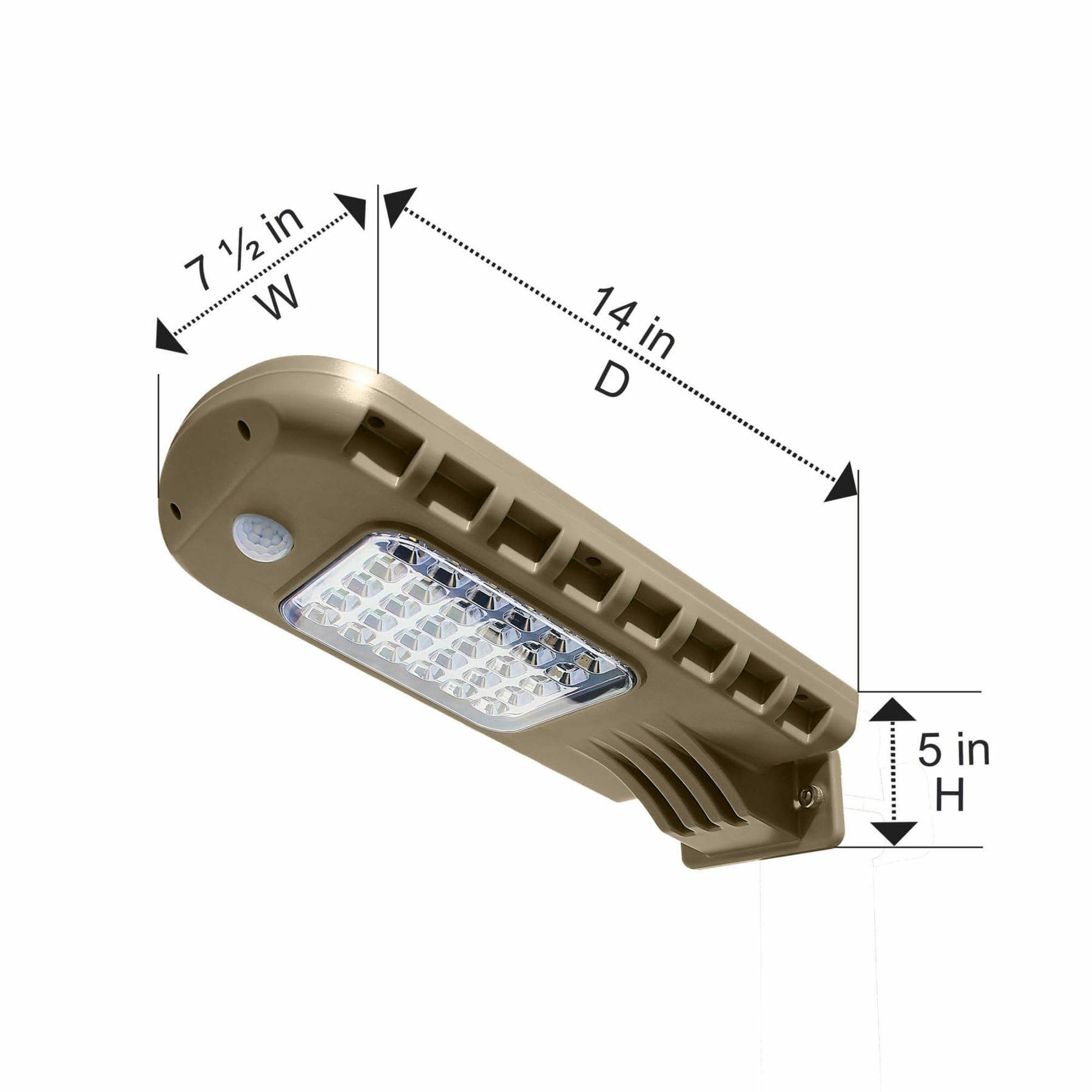 6-Watt Solar Security Light with PIR motion sensor