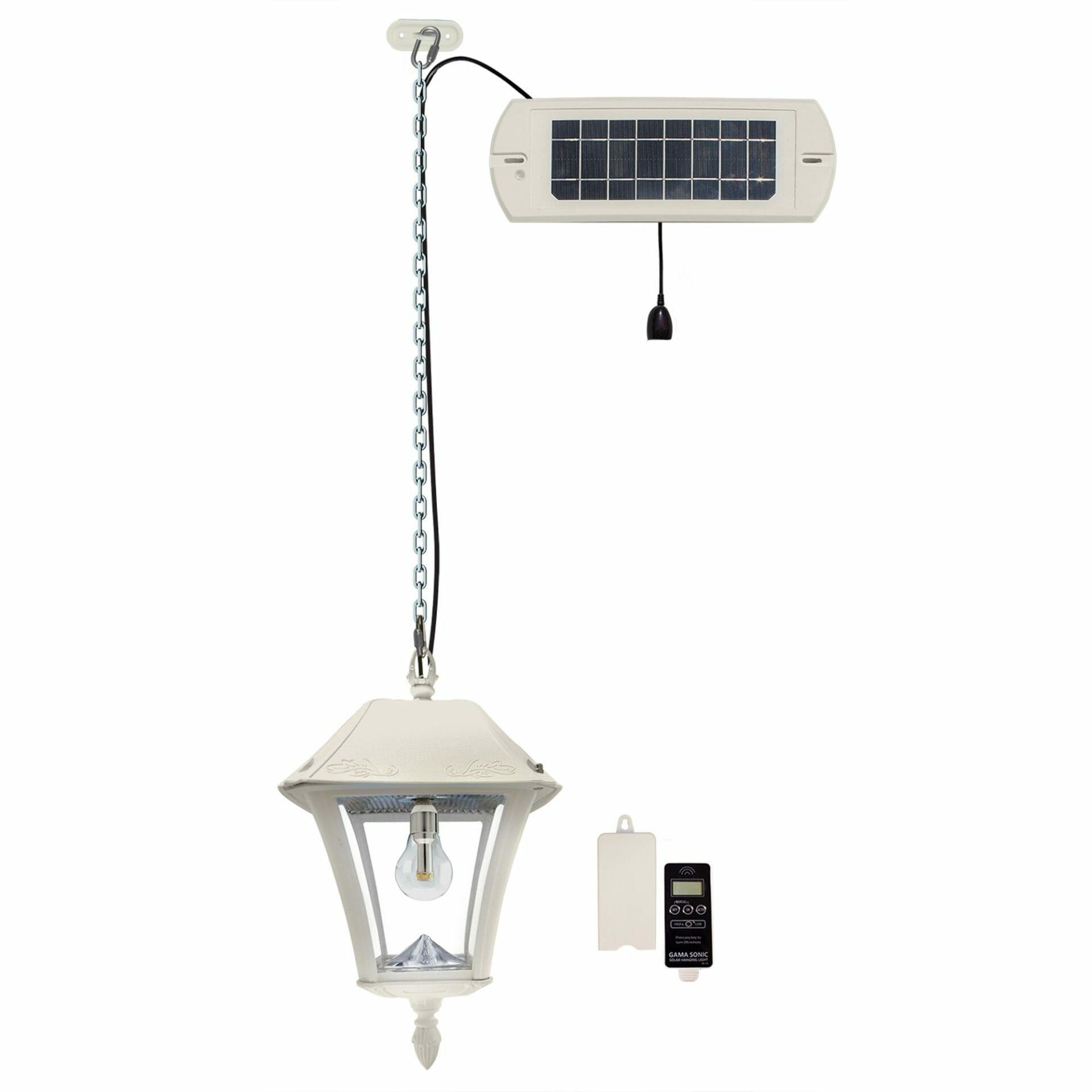 Baytown II Bulb Solar Hanging Light - White 105BCX21