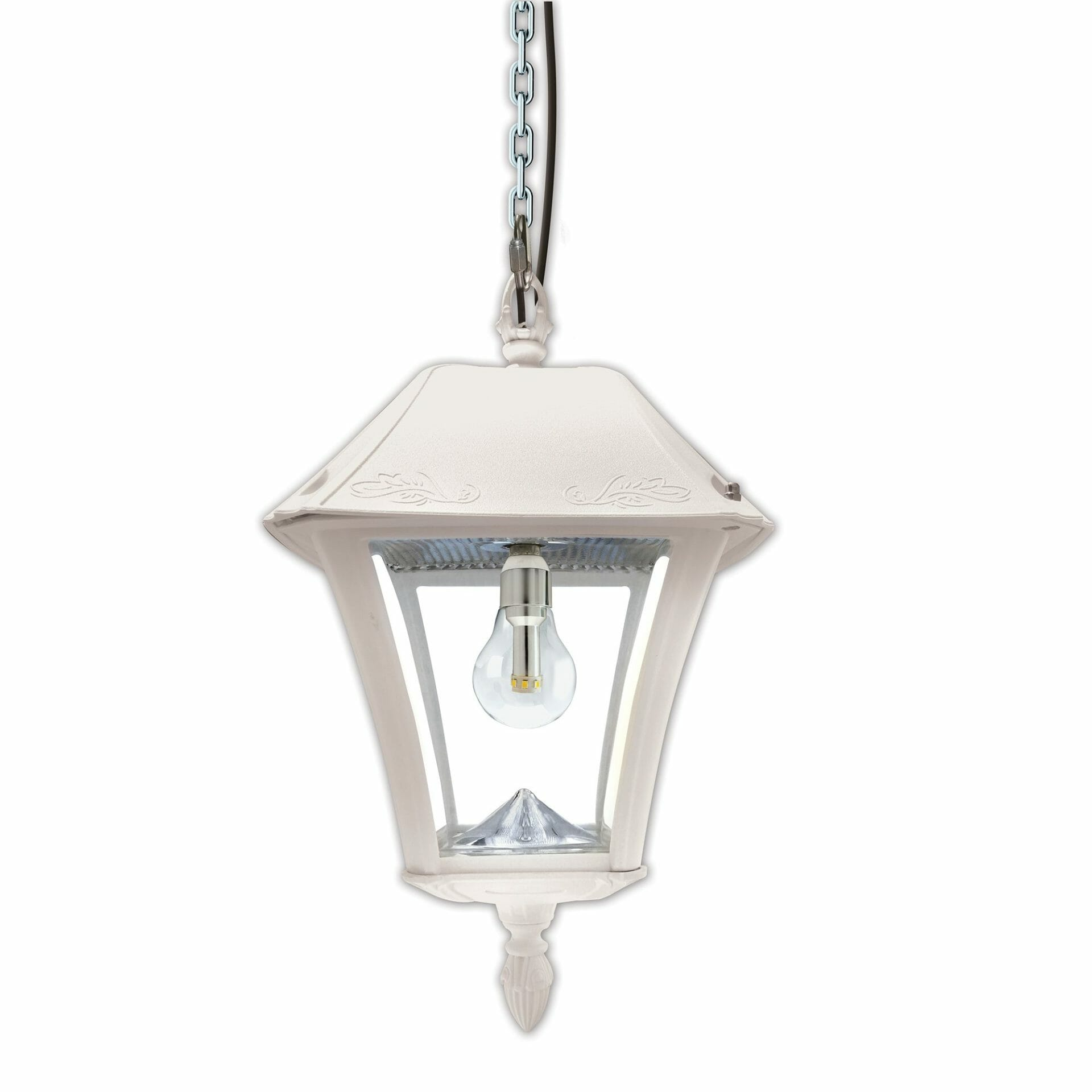 Baytown II Bulb Solar Hanging Light - White 105BCX21