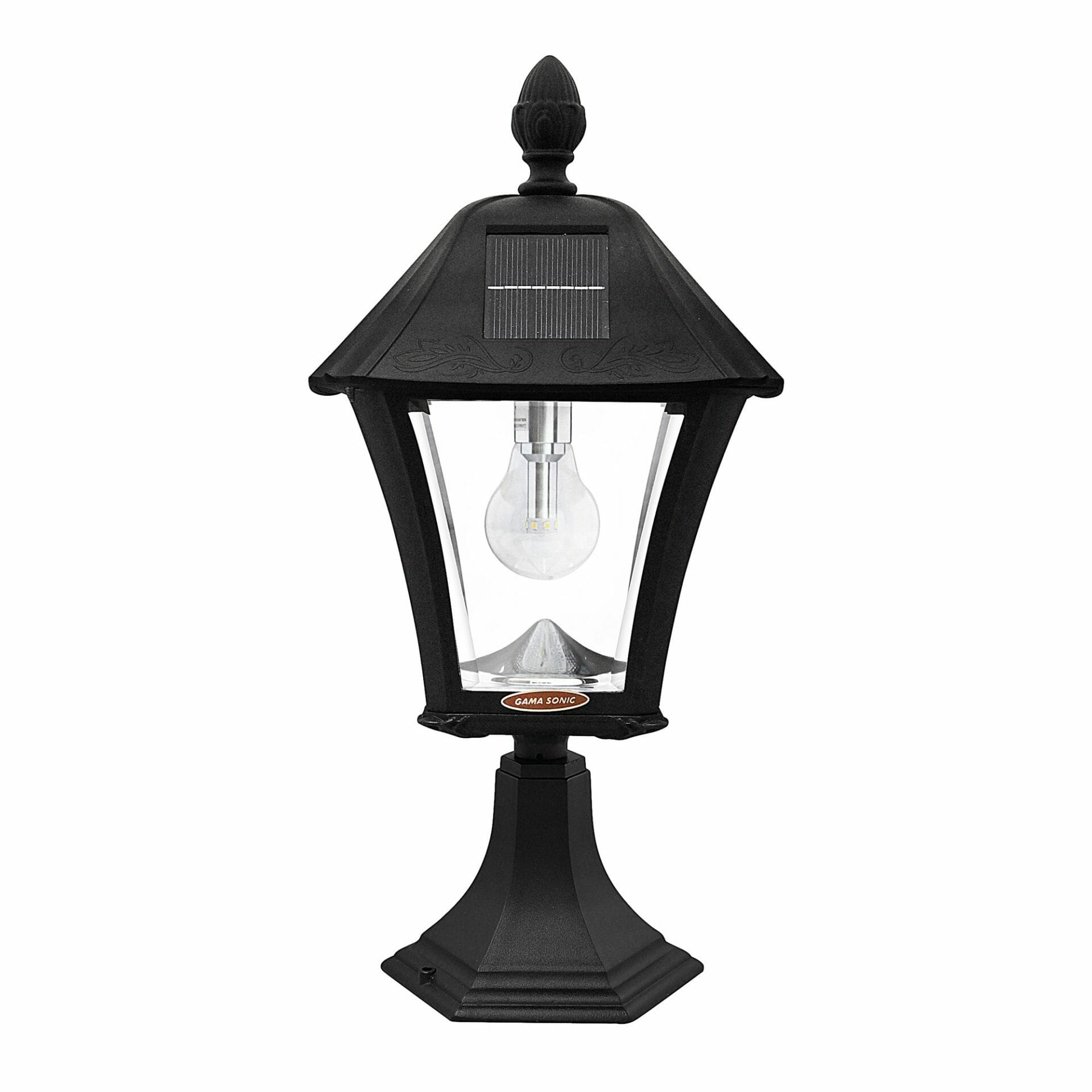 Baytown Bulb Solar Lamp with 3 Mounting Options - Front View