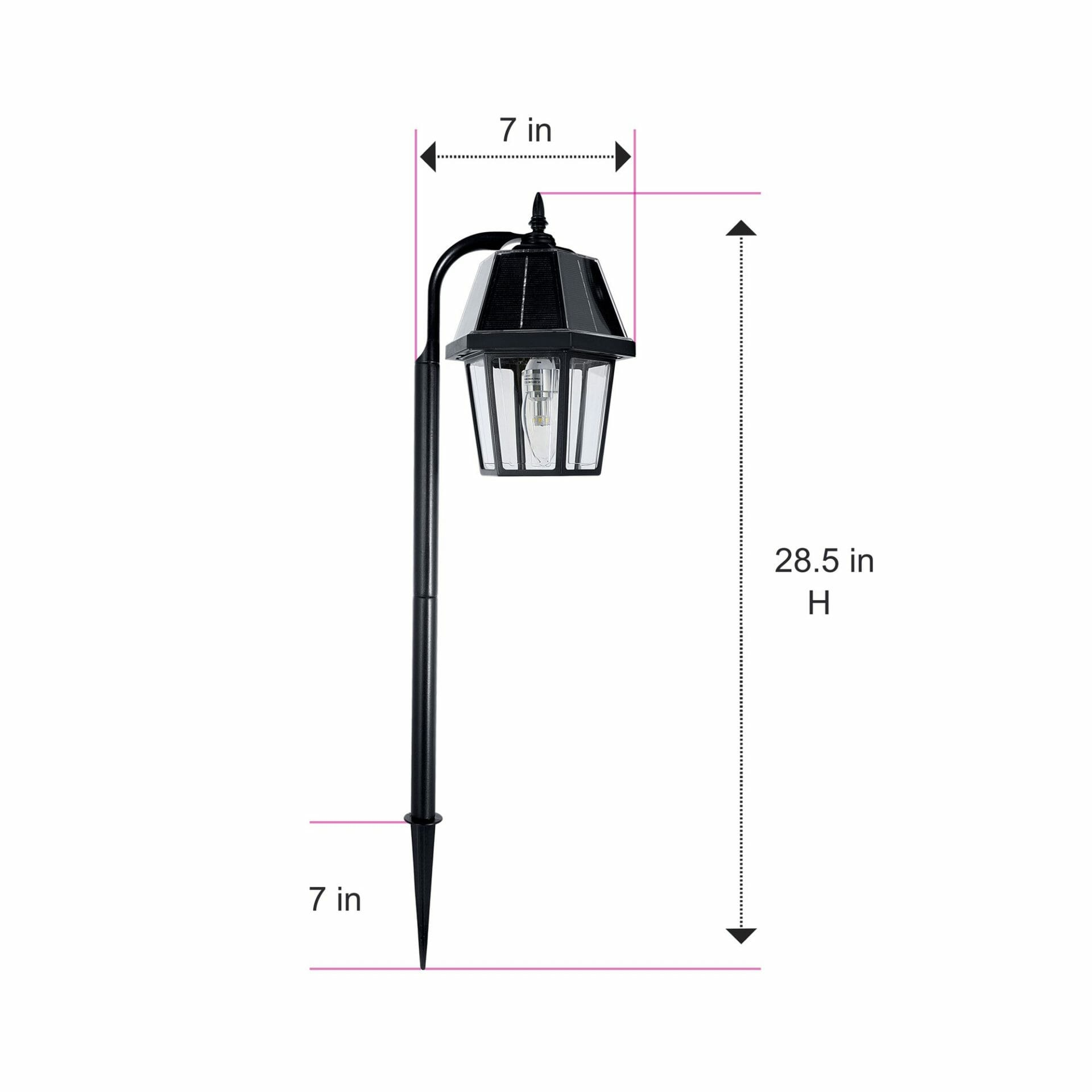 Solar Garden Light Dimensions