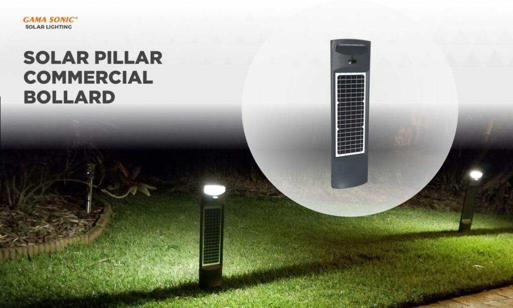 Highlight High Foot Traffic Areas with the Solar Pillar Commercial Bollard