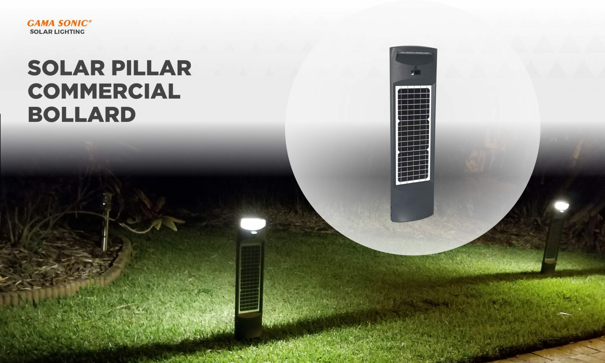 Highlight High Foot Traffic Areas with the Solar Pillar Commercial Bollard