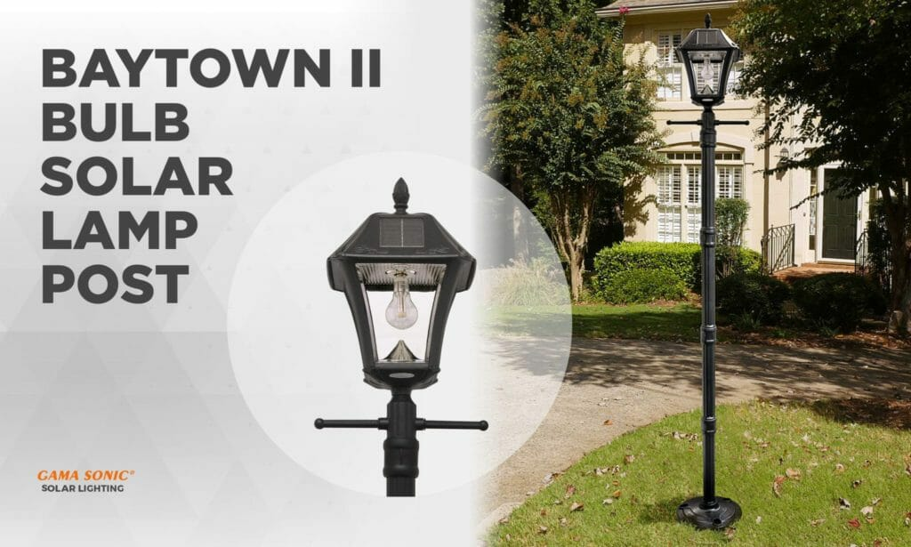 Experience Effortless Style with the Baytown II Bulb Solar Lamp Post