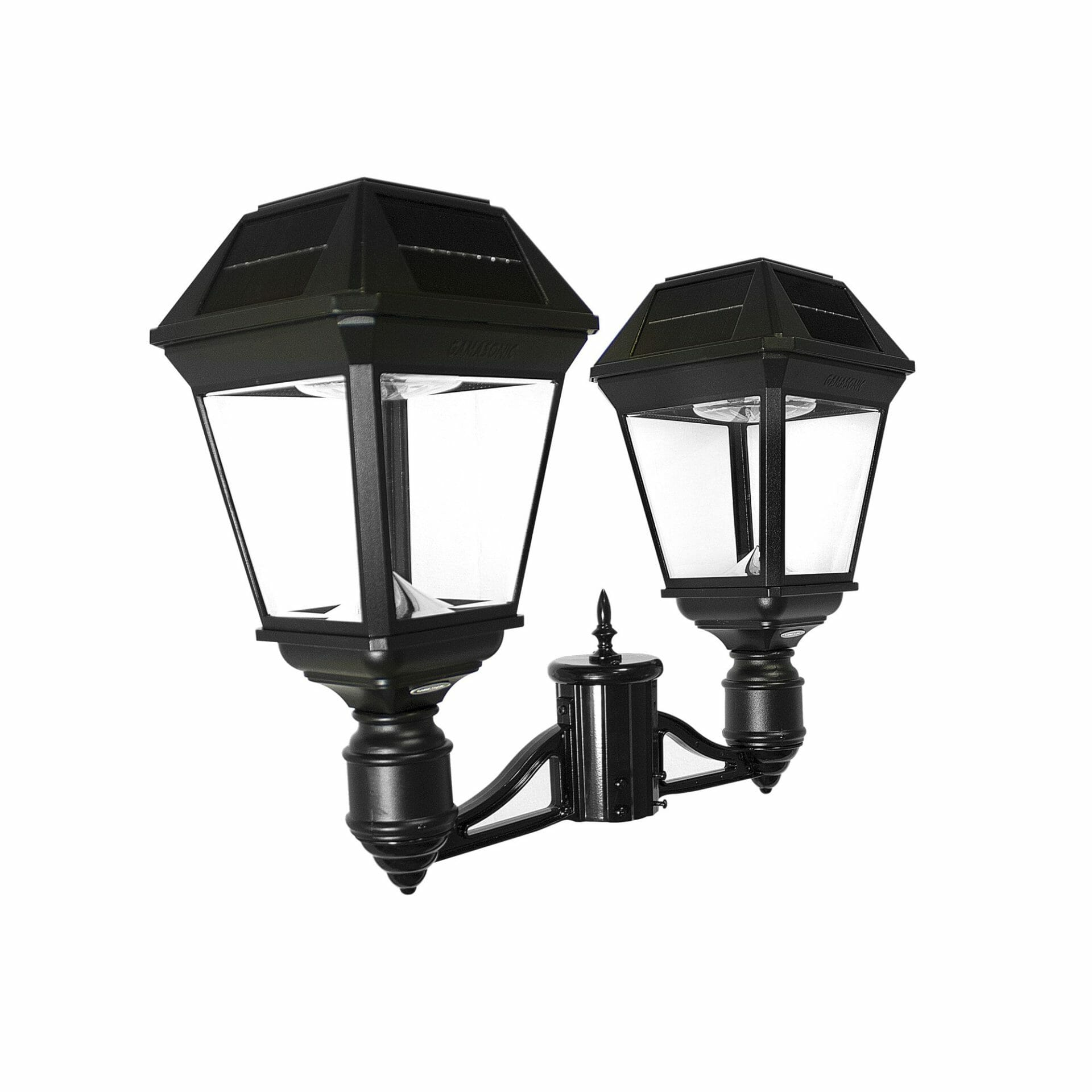 "Imperial III Commercial Solar Double Post Light with Dual Color Temperature and 3"" Fitter 97KF20"