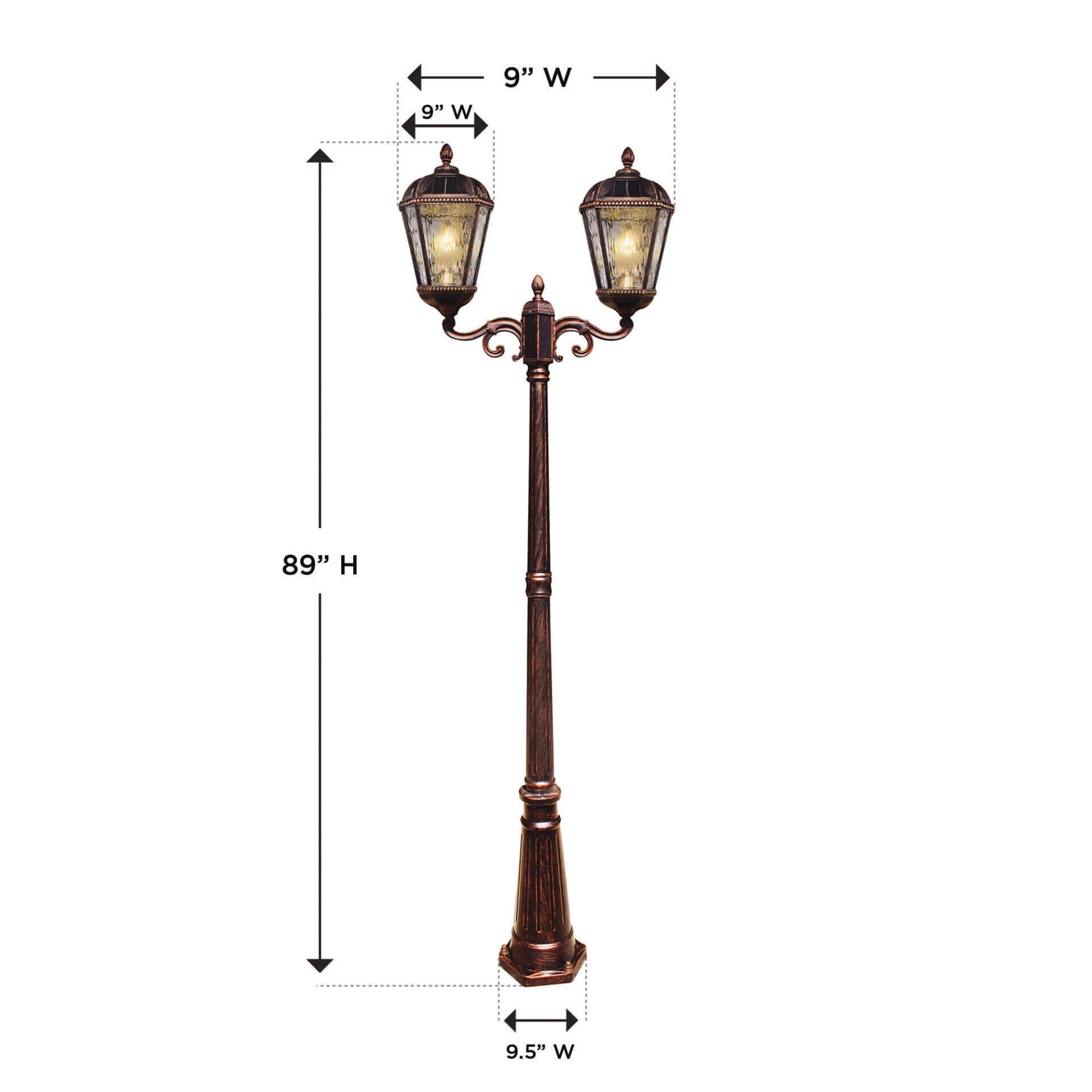 Royal Bulb Double Solar Lamp Dimensions