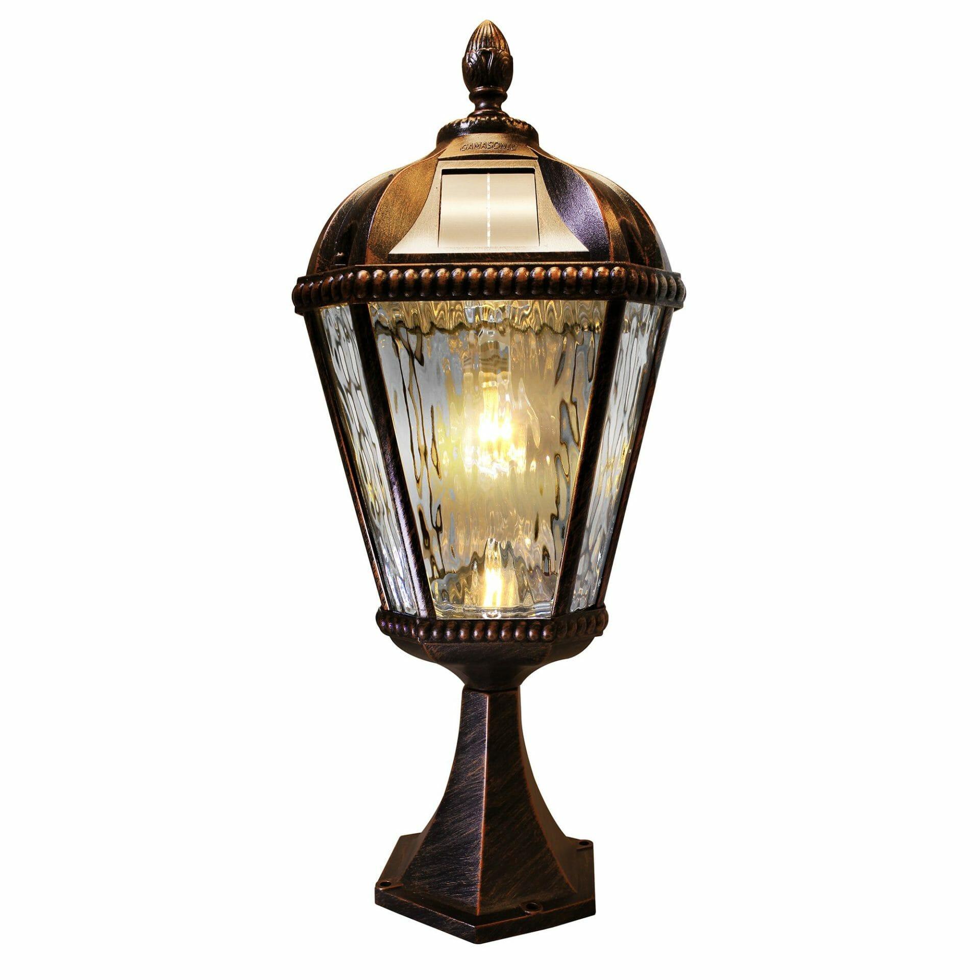 Royal Bulb Pier Mount Solar Lamp - 98B111