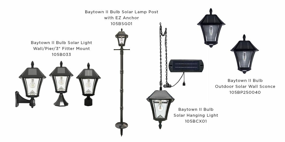 Baytown II Bulb Solar Lights