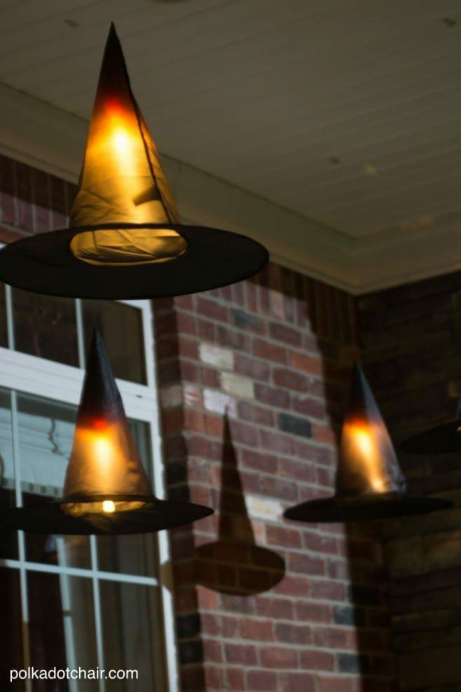 Gama Sonic DIY Halloween Light Ideas Floating Hats
