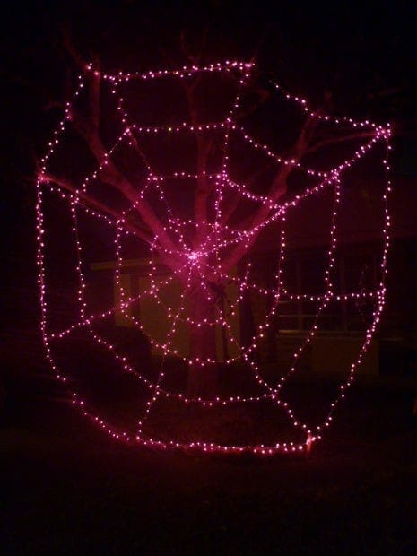 Gama Sonic DIY Halloween Light Ideas Spider Web