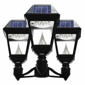 Gama Sonic Imperial II Series - Triple Head Solar Post Light GS-97NF3 - How to Replace an Existing Gas Lamp with a Solar Post Light