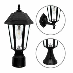 Topaz Solar Lamp With Three Mounting Options GS-149FPW by Gama Sonic