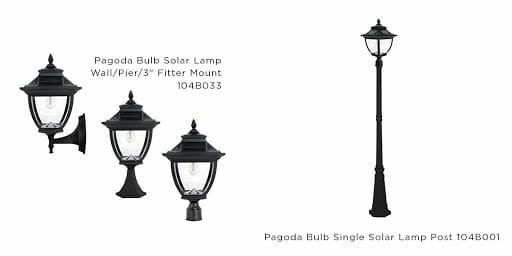 Pagoda Solar Light Collections with Asian Influence