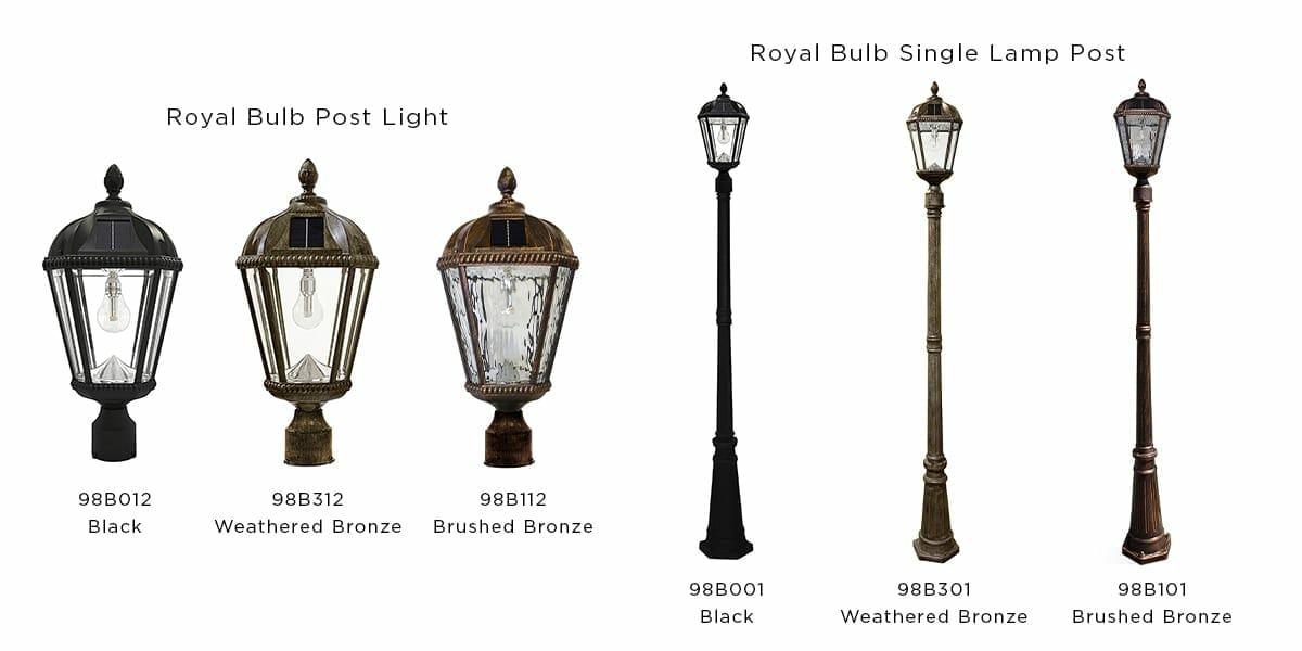 Royal Bulb Post Lights