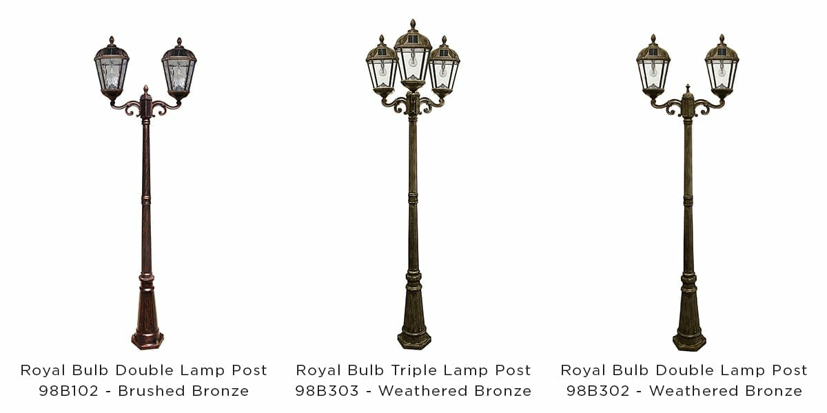 Royal Bulb Double & Triple Lamp Posts